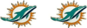 Miami Dolphins Football Team Logo NFL Silver Post Stud Earrings Set