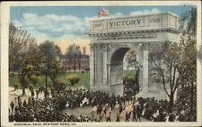 Newport News VA Memorial Arch WWI c1918 Postcard