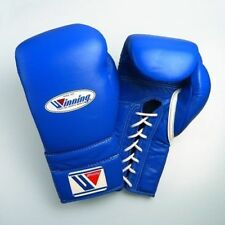 WINNING Boxing Gloves MS-600 Lace Up Pro Type Training 16 oz Blue Japan NEW