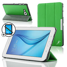 Leather Green Folding Smart Case Samsung Galaxy Tab E Lite 7.0 Scrn Prot Stylus