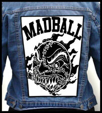 MADBALL - White  --- Giant Backpatch Back Patch