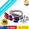 Turbo Oil RETURN Line Kit T3 T4 Universal Braided Adapter T04 T60 T70