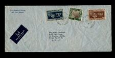 Scott#s 27, 28 and scarce #30 Army on OCT 23 1949 Airmail Israel to Bronx, NY