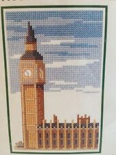 New BIG BEN & HOUSES OF PARLIAMENT Cross Stitch Kit w/Matting London England
