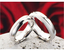 Unisex Modeschmuck-Ringe im Ehering-Stil aus Sterlingsilber