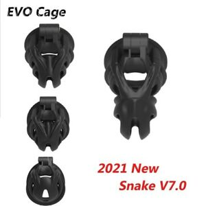 Male EVO Cage 3D Printed Snake V7.0 Mamba  Chastity Cage Double-Arc Cuff Ring