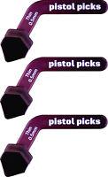 Pistol-Picks Guitar Picks Thin 0.50mm Pistol Picks ergonomic guitar picks