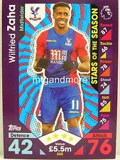 Match Attax 2016/17 Premier League - SS5 Wilfried Zaha  - Stars of the Season