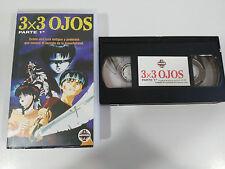 3X3 OJOS PARTE 1 DAISUKE NISHIO - VHS CINTA TAPE COLECCIONISTA ANIME MANGA