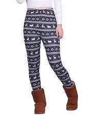 Womens Plus Size Ultra Soft Leggings Winter Holiday Design Elastic Stretch Pants