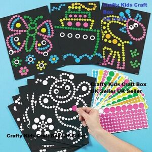 Dotty Art Craft Kit Set Create Your Own Fun Kids Children Activity Pack of 4