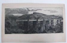 NORMAN McKELLEN etching , viaduct
