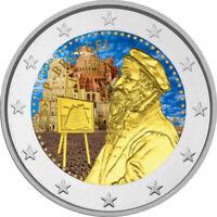 2 Euro Gedenkmünze Belgien 2019 coloriert / mit Farbe Farbmünze Pieter Bruegel