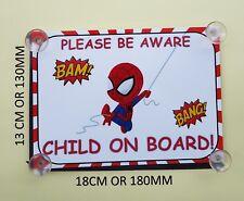 Superhéroes Spiderman Niño A Bordo Coche Firmar Laminado