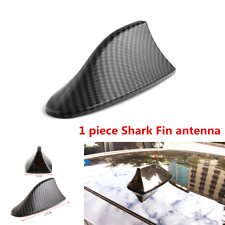 Black Carbon Fiber Style Shark Fin Antenna ABS For Car Exterior Roof Decorative