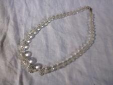 Ancien collier perle cristal taillé à facette vintage 30 g