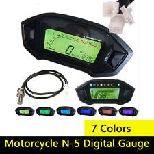 Motorcycle N-5 Digital Gauge Speedometer Odometer Gear Tachometer Fuel Indicator