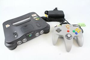 Nintendo 64 N64 Console Black Color NUS-001 controller japan game tested working