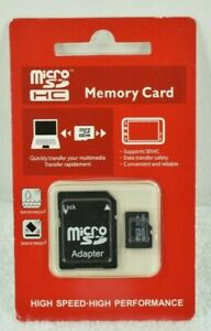 Micro SDHC Memory Card 256GB with Adapter / New