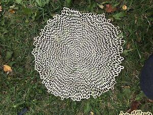 Gold Circle Placemats : Wedding Party Table :: 6 Circle Plastic Mats : Stunning!