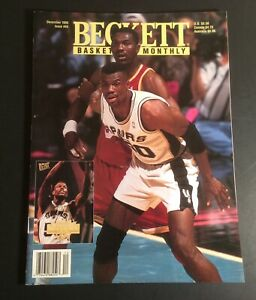 Beckett Basketball Card Monthly December 1995 #65 Robinson & Olajuwon Cover