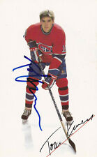 NHL MONTREAL CANADIENS Tom Kurvers #18 SIGNED Postcard