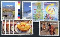 BOLIVIA 4 MNH Complete Sets Mi# 1909/10 - 1914/5 - 1897/1900 - 1896