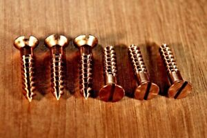 Silicon Bronze Slotted Countersunk Woodscrews Various pack sizes