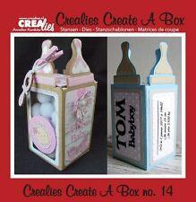 Crealies CREATE A BOX Die Set No.14 BABY'S BOTTLE  BOX Cutting Dies CCAB14