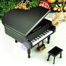 """Let It Go"" Melody Wooden Piano Music Box With Sankyo Musical Movement (Black)"