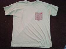 Green short sleeve crew neck pocket T-Shirt Mens Camouflage pocket t-shirt M