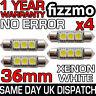 4x 3 SMD LED 36mm C5W CANBUS ERROR XENON WHITE NUMBER PLATE LIGHT FESTOON BULB