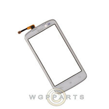 Digitizer & Frame Assembly for LG P930 Nitro HD White Front Glass Touch Screen