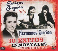 ENRIQUE GUZMAN,HERMANOS CARRION 30 EXITOS INMORTALES VERSIONES ORIGINALES NEW