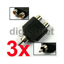 Male to Female RCA Adapter for Easycap Capture TV Tuner Card PS2 PS3 Wii Video