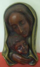 Goldscheider Wall Art Mask Art Deco Rare Bronze Finish Madonna Mother w/ Child