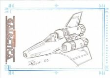 THE COMPLETE BATTLESTAR GALACTICA - SKETCH by EDUARDO PANSICA of Colonial Viper