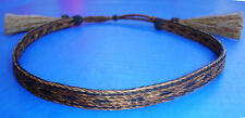 Western Cowboy/Cowgirl Horsehair HAT BAND Black/Brown 5 Strand