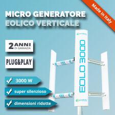 Generatore eolico verticale EOLO 3000 W domestico pale eoliche casa giardino 3KW