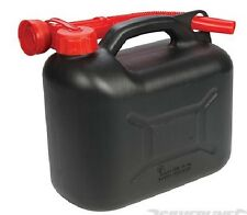 BRAND NEW PLASTIC FUEL CAN 5 LTR PETROL INCLUDES SPOUT AUTOMOTIVE TOOLS P291