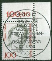 Berlin 825 Eckrand gestempelt Vollstempel ESST Berlin 12 Ecke 2 Frauen 100 Pf.