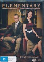 Elementary The Fourth Season DVD NEW Region 4 6-disc Lucy LIU