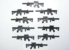 10 custom U.S. elite force weapon 1/18 for soldier figures 3,75