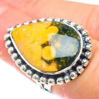 Large Ocean Jasper 925 Sterling Silver Ring Size 5.75 Ana Co Jewelry R50860F
