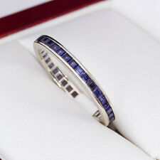 Sapphire and white gold full eternity ring, very nice, estate age