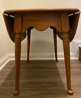 Vintage Ethan Allen Nutmeg Solid Maple Drop Leaf Pembroke Table