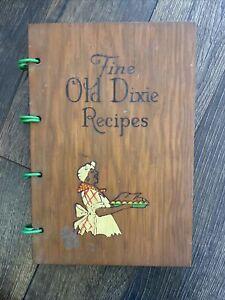 1965 FINE OLD DIXIE RECIPES COOKBOOK, BLACK MAMMY AMERICANA WOOD COVER