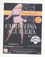 Christina Aguilera Pussycat Dolls 2/20/07 Houston Tx Concert Flyer!