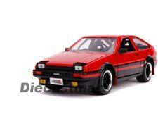 1 24 1986 Toyota Trueno Ae86 Red/black Jada JDM