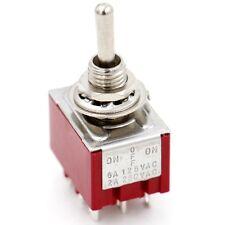 Miniatur Kippschalter 3PDT 3XUM 3 Stellungen: EIN/AUS/EIN 9-polig 2A 250VAC UL